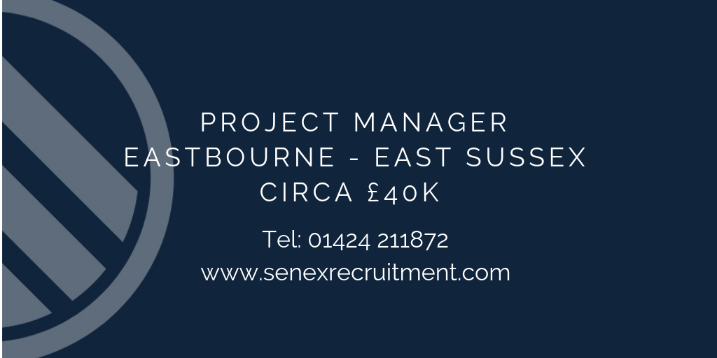 Project Manager position in East Sussex