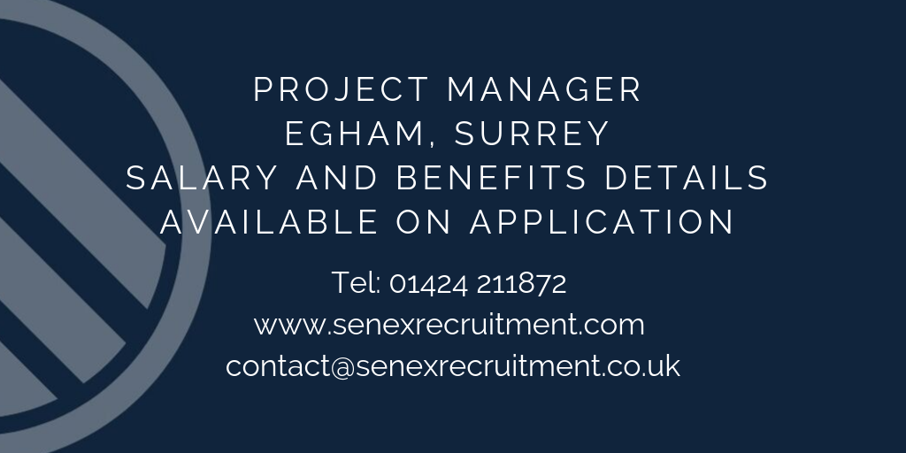 Job for Project Manager in Egham