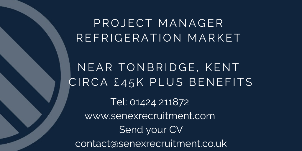 Job in Kent for Project Manager in Refrigeration