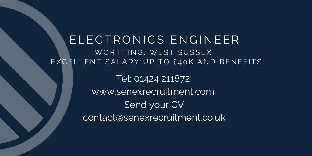 Job in West Sussex for a Electronics Engineer (worthing)
