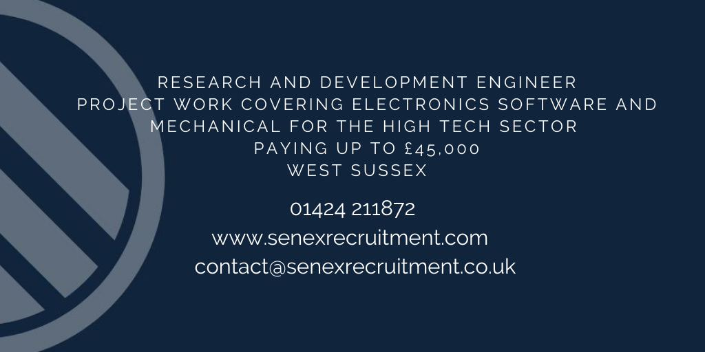 Research and Development Engineer job in Sussex