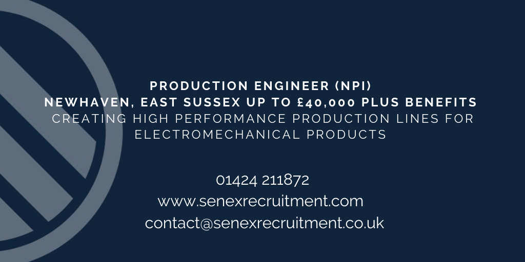 NPI Production Engineer job in East Sussex