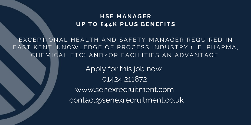 HSE Manager job in Sandwich