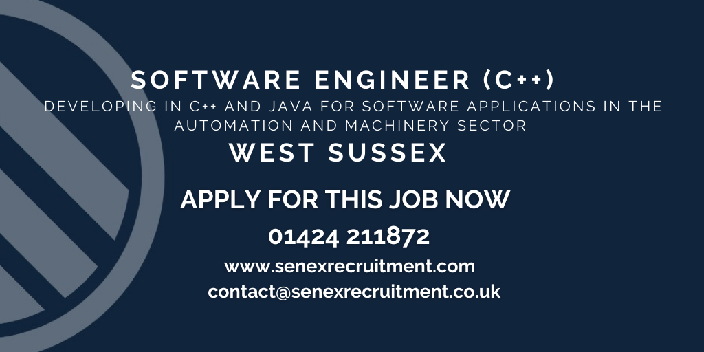 Job for C++ Software Engineer in West Sussex