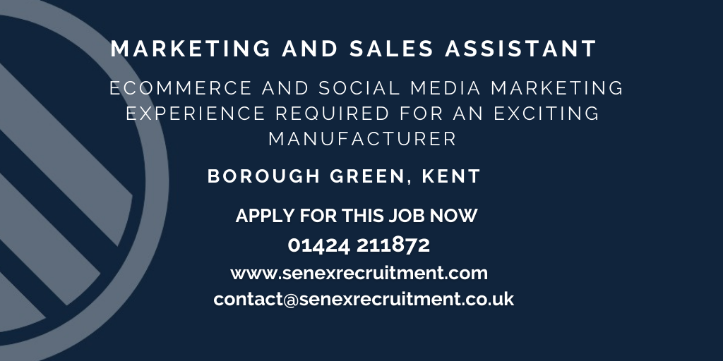 job for marketing and sales assistant in Borough Green